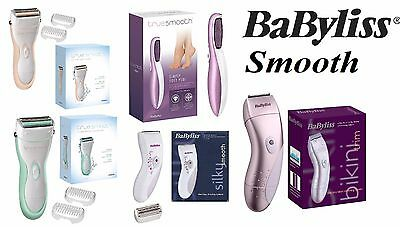 BaByliss Smooth Battery Operated Lady Shaver With Full Width Dual Trimmers