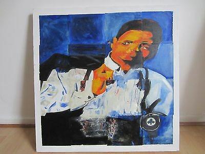 Oil Painting Cubism Of Jackie Wilson