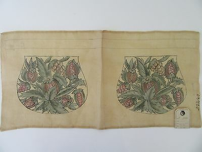 Antique Printed Purse Fabric Embroidery Victorian Tapestry RTF Vintage FRANCE