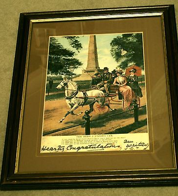 Vintage Irish Jaunting Car Comes Framed And Mounted