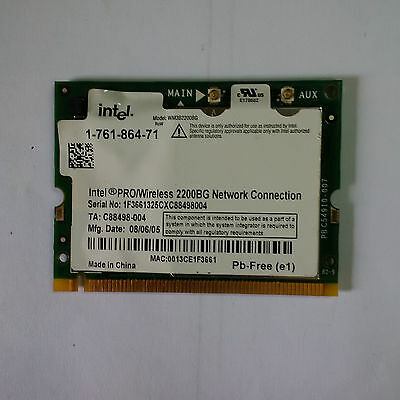 Intel Pro Wireless 2200BG WM3B2200BG