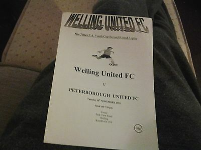 welling v peterborough 99.00 fa youth cup 2nd rd replay