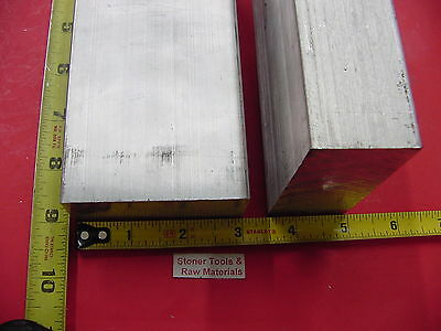 "2 Pieces 1-1/2"" X 3"" ALUMINUM 6061 FLAT BAR 9"" long T6511 Solid Plate Mill Stock"
