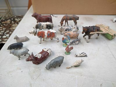 Metal Lead Farm Animals mixed lot including Britains