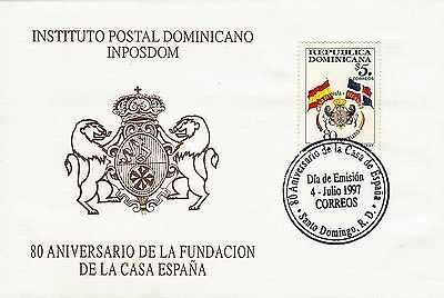 DOMINICAN HOUSE of SPAIN Sc 1256 FDC 1997