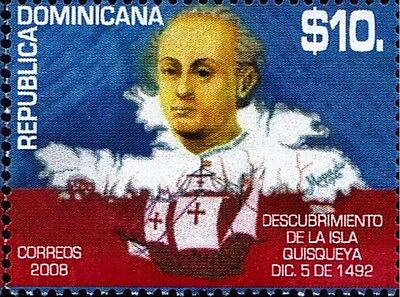 DOMINICAN DISCOVERY of QUISQUEYA, CHRISTOPHER COLUMBUS Sc 1458 MNH