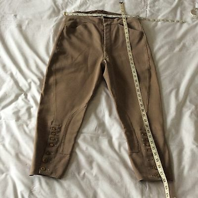 "Vintage Gentleman's Buff Breeches  32"" waist"