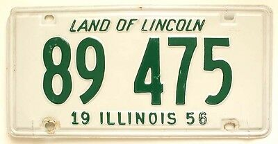 Illinois 1956 License Plate Vintage Wall Sign for Man Cave, Garage, Bar, Rat Rod