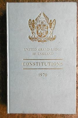 Freemason's United Grand Lodge Of England Book Of Constitutions 1970 - Vgc !