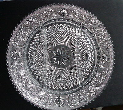 """Duncan and Miller Sandwich 12"""" 3 part divided dish"""
