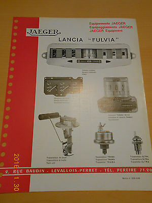 documentation  JAEGER LANCIA fulvia
