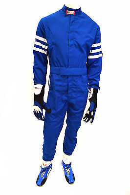 Rjs Racing Sfi 3-2A/1 New Classic 1 Pc Suit Youth 8/10 Fire Suit Blue 200040323