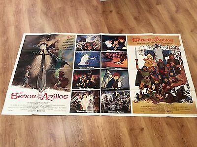 LORD OF THE RINGS Orig Movie Poster GOLLUM GANDALF J R R TOLKIEN RALPH BAKSHI