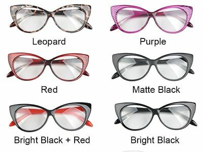 Eye Glasses Black Women Frame Clear Lens Vintage Eyewear Optical Glasses WCA036