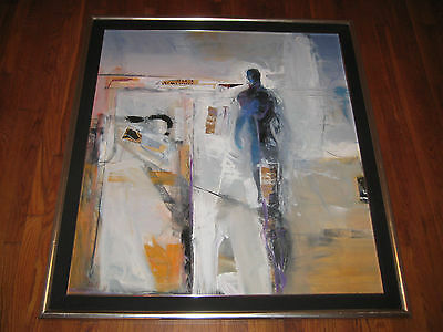 "Mark Whitmarsh Abstract Signed Large Painting, ""figure Language"""
