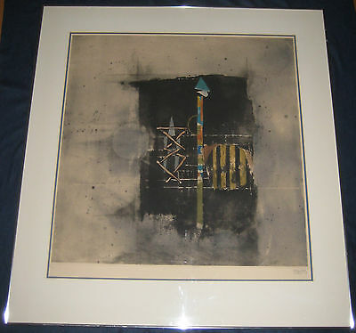 Original Limited Edition Signed Johnny Friedlaender Aquatint Modern Abstract
