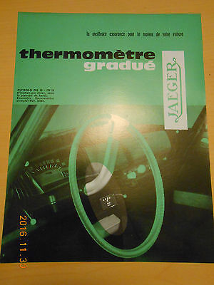 documentation  JAEGER thermomètre citroën ID 19 DS 19