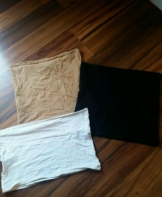 Set of 3 Belly Bands Tan Black White
