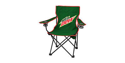 New Mountain Dew Green Camp Chair Quad Folding With Bag Promo