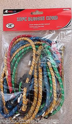 """Ate Pro 92004 10Pc 24"""" Bungee Cords"""