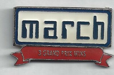March Engineering 3 Grand Prix Wins Pin, Auto Pins sehr selten