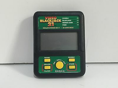 Radica VIDEO BLACKJACK 21 Hand Held Electronic Video Game Casino 450