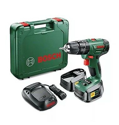 Hammer Drill Driver PSB 1800 LI2 Cordless Lithium Ion with Two 18 V Batteries