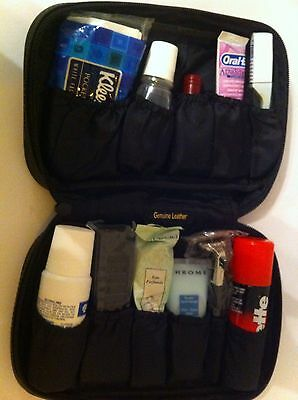 First Class Travel - Emirates Leather Wash Bag - Brand New