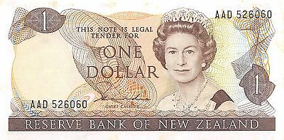 New Zealand  $1  ND. 1981  P 169a  Series AAD  Uncirculated Banknote MX30W