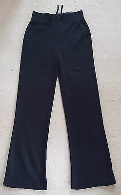 Matalan - Girls Black Jogging Bottoms 100% Cotton - Age 10-11 Years
