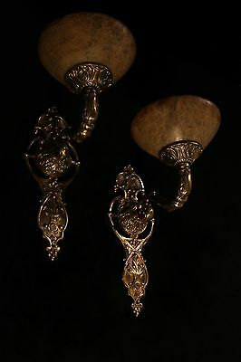 alabaster wall lights fixtures bronze handcrafted individually by artist
