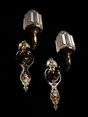 art deco sconces wall lights fixtures bronze handcrafted individually byartist