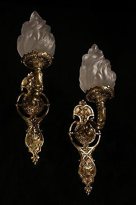sconces wall lights fixtures bronze handcrafted individually by artist