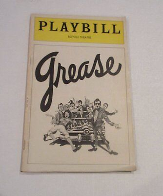 GREASE Playbill Royale Theatre 1977 Broadway Collectible