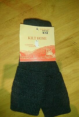 Children's charcoal kilt socks new with tags