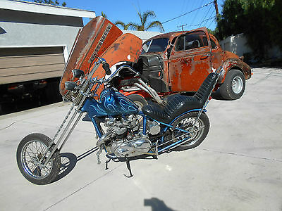 1958 Triumph Other  1958 triumph chopper barn find survivor gasser rat rod pre unit 1970s built MORE