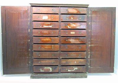 An Antique 19th C Pine Cupboard With Fitted Drawers Bank Of Drawers Restoration