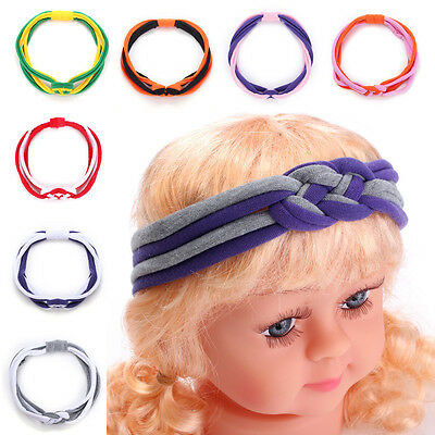 Kid Baby Girl Infant Twist Braid Weave Multicolor Casual Cotton Blend Headband H