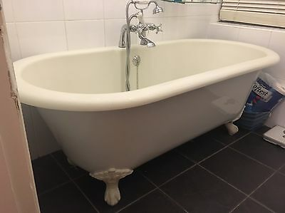 Roll Top Bath with taps and Shower