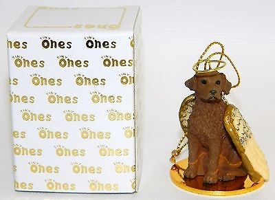 "Chesapeake Bay Retriever Dog Figurine Ornament Angel 2"" Figure Tiny Ones Chessie"