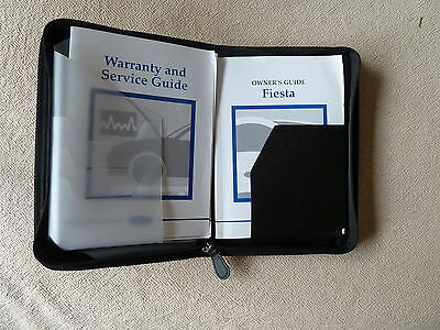 Ford Fiesta Handbook / Owner's Guide, Service History Guide - in Wallet
