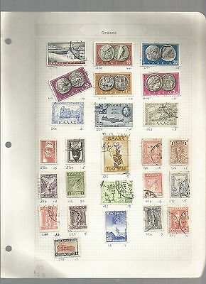 Large Mixture Of Greece Stamps