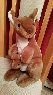 Fantastic Kangaroo and baby in pouch soft toy, new with tags