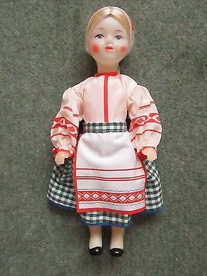 """Vintage Costume Cabinet Doll - 11"""" - With Russian Label"""