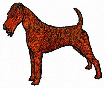 Irish Terrier standing embroidery Patch