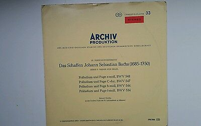 Bach / Organ Works *walcha* Red Stereo* Archive /sapm 198 306