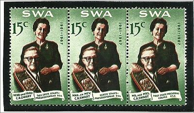 SWA 1967,  15c Def Pres. Swart  shifted red printing