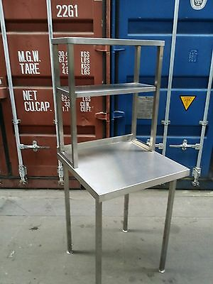 Stainless Steel Table Prep Table Catering Kitchen Table - ON SOLID FRAME