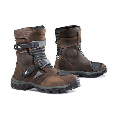 Forma Adventure Low Brown Leather Motorbike Motorcycle Boots Eu 43 Uk 9