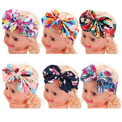 Kids Baby Girl Infant Flower Hairband Turban Floral Photography Bowknot Headband